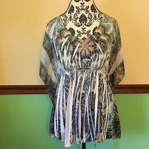 Lafiance Boho Batwing Sublimation blouse - M